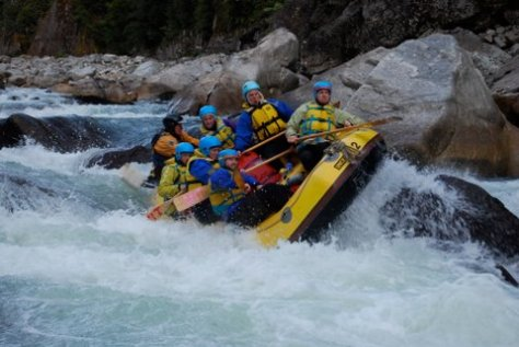 Rafting in Karamea River